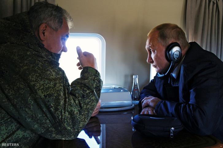 Vlagyimir Putyin és Szergej Sojgu védelmi miniszter 2018.09.13.