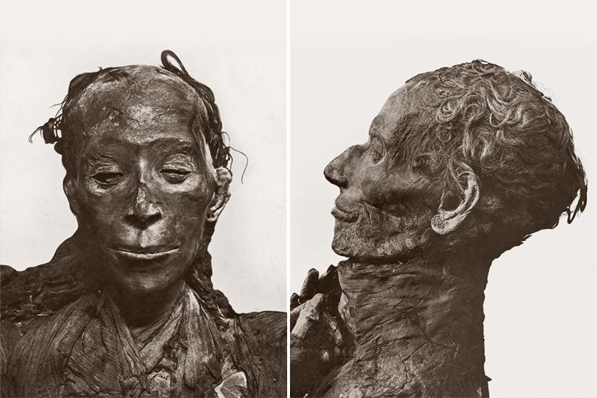 Tutanhamon dédnagyszülei, nagyanyja szülei, Juja és felesége, Tuja időszámításunk előtt 1400 körül éltek. Juja főpap és nemes volt. Múmiáik elképesztő állapotban maradtak fenn. Tutanhamon sírja mögött, kincsekkel temették el őket.