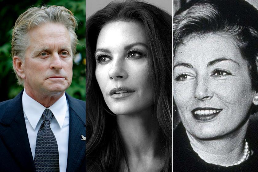 Michael Douglas azonnal beleszeretett Catherine Zeta-Jones-ba, amint meglátta. Pedig a színésznő kiköpött mása férje édesanyjának, Diana Dill színésznőnek.