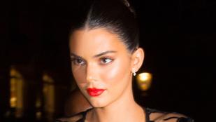 Kendall Jenner megint melltartó nélkül és átlátszó ruhában gálázott
