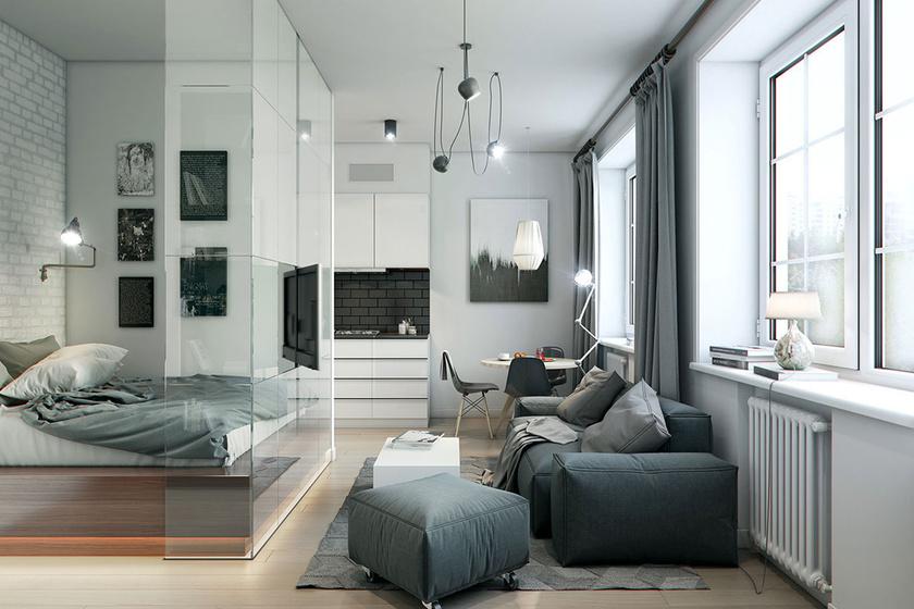40 négyzetméteres, hatalmasnak tűnő lakások - Okos trükkök térnövelésre