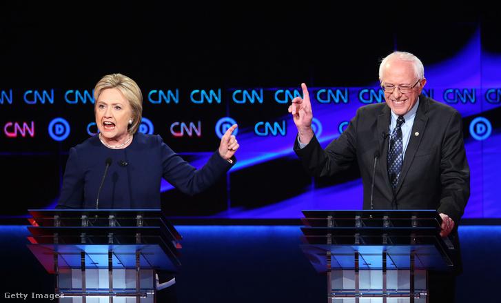 Hillary Clinton és Bernie Sanders
