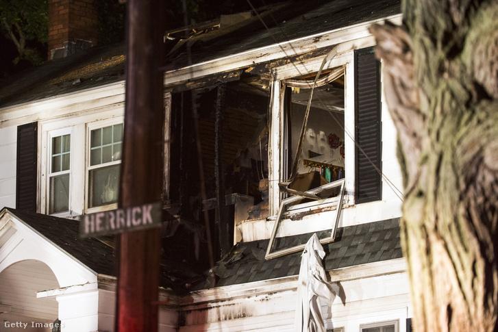 Ház gázrobbanás után Massachusettsben. 2018.09.13.