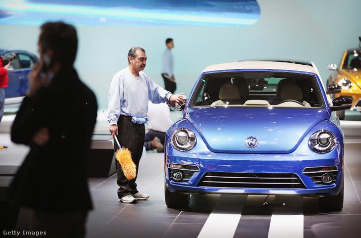 VW Beetle Észak Amerikai Nemzetközi Autó Shown 2014.01.14-én