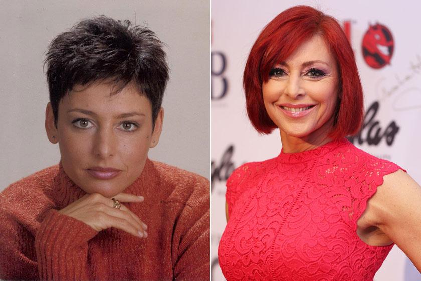 Erős Antóniát rövid, fekete hajjal ismerhette meg az ország, később váltott át vörös színre.
