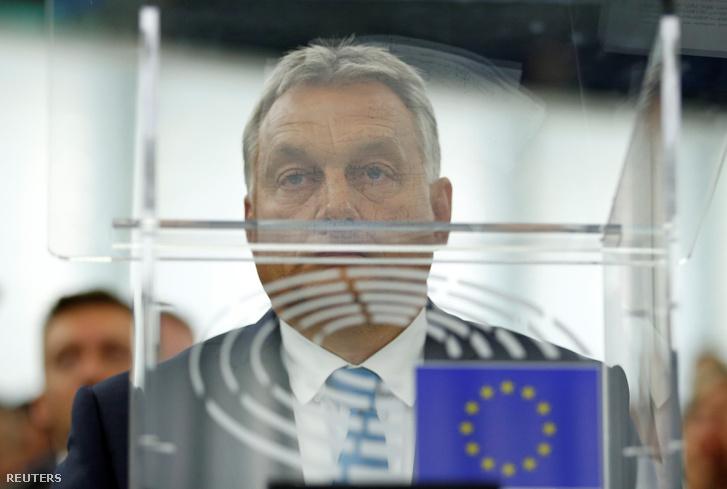 Orbán Viktor az Európai Parlamentben a jelentés vitáján 2018. szeptember 11-én
