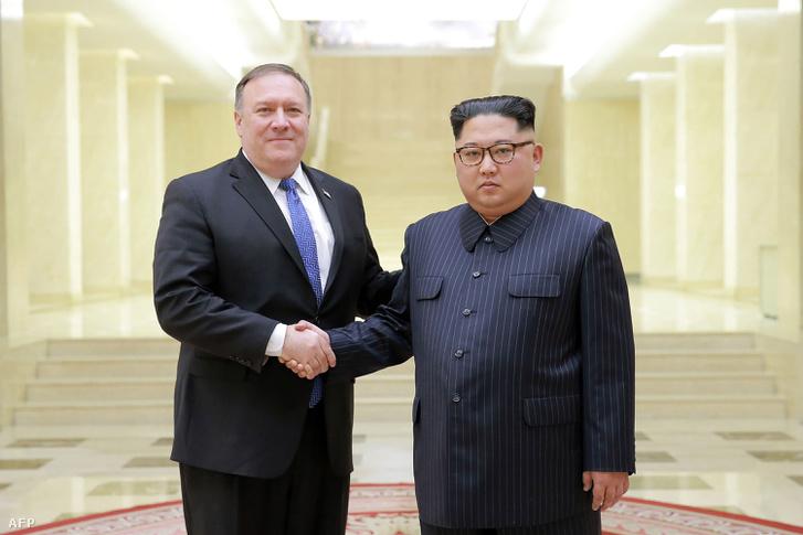 Mike Pompeo és Kim Dzsongun találkozója 2018. május 9-én, Phenjanban