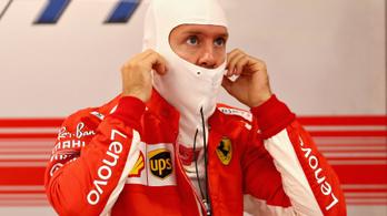 Vettel űridőt ment, fél másodperc a Mercedes lemaradása