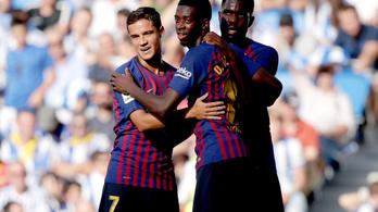 Megszenvedett a Barca a Sociedad ellen