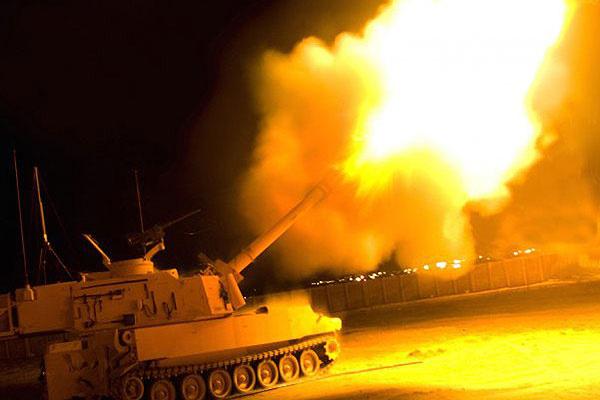 Az M109A7-es tarack.