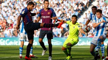 Botlott a Real, előnyben a Barcelona