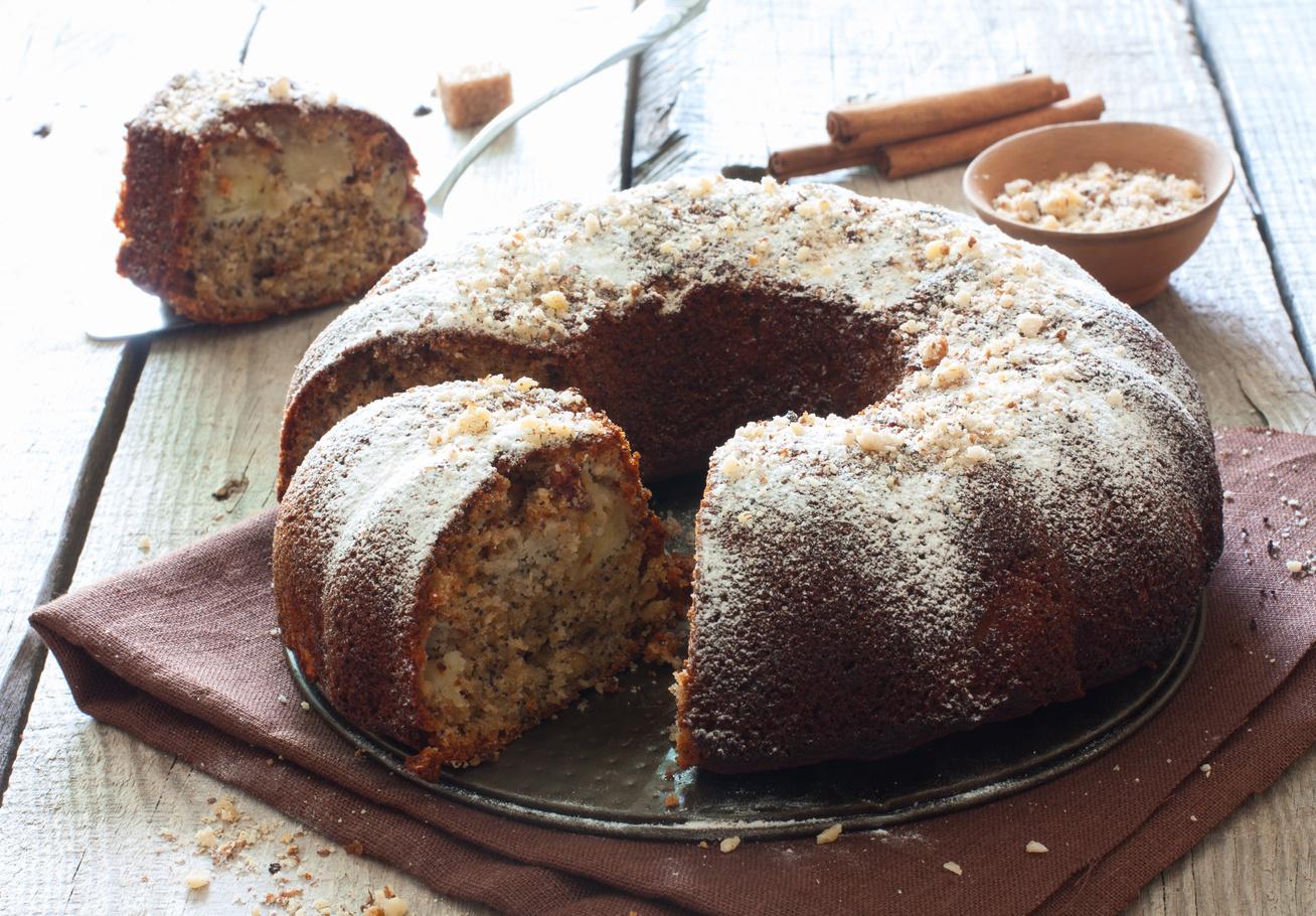 Almás-mákos, hamis kuglóf: isteni, omlós édesség pár perc munkával