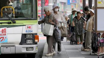 Japán lakosságának már ötöde 70 éven felüli