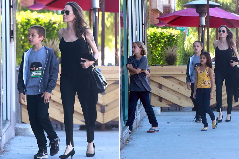 Angelina Jolie igazán odaadó édesanya.
