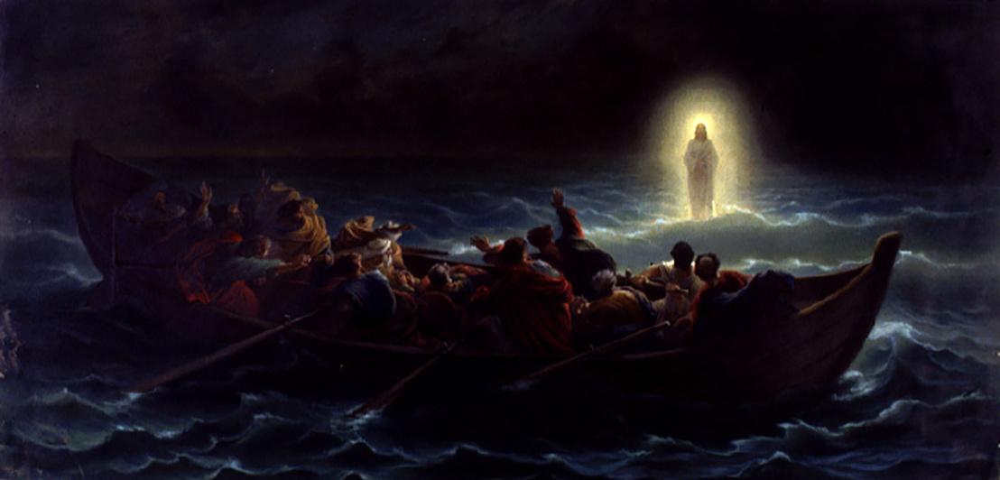 Amédée Varint - Christ marchant sur la mer