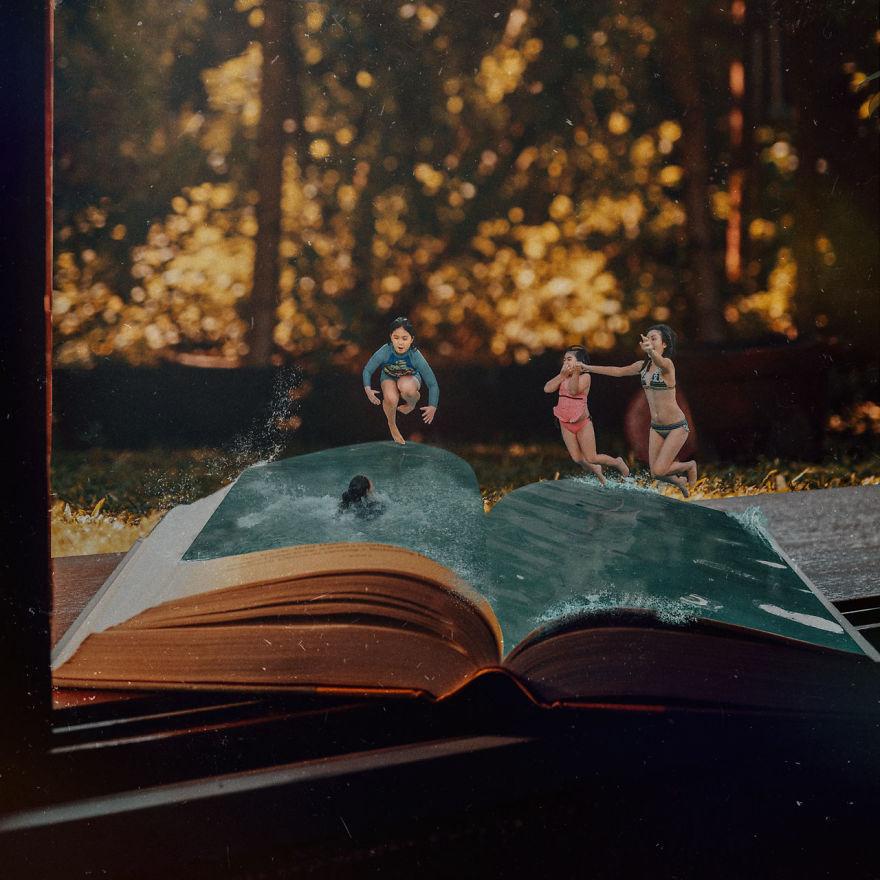 látvány könyveket olvasni