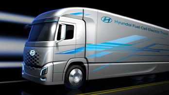 Hidrogénhajtású kamiont mutat be a Hyundai