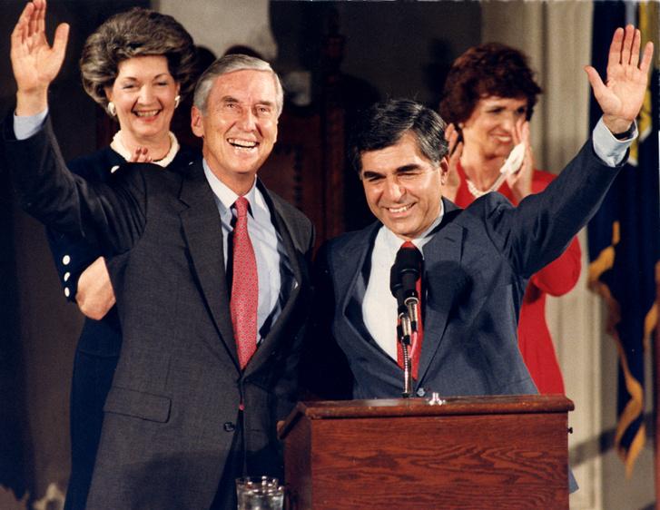 Lloyd Bentsen és Michael Dukakis 1988-ban