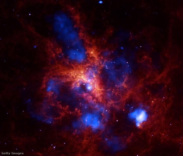 Csillagkeletkezési régió a Doradus 30, egyike a legnagyobbaknak közel a Tejúthoz, a Nagy Magellán Felhőben található