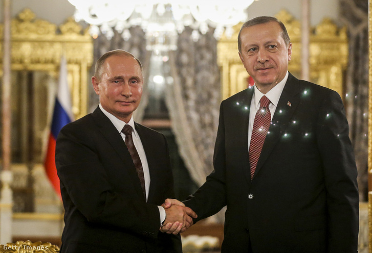 Vlagyimir Putyin és Recep Tayyip Erdogan