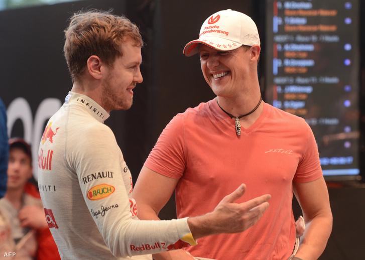 Vettel és Schumacher 2012 decemberében