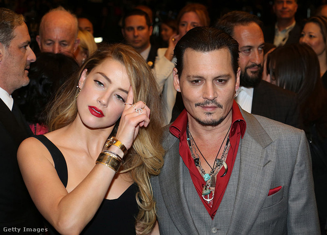 Johnny Deep és Amber Heard 2015-ben.