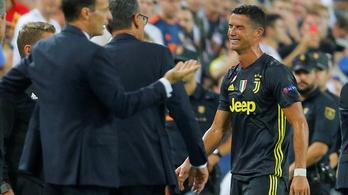 C. Ronaldo pirosa sem fékezett a Juvén, oktatott a Real, kikapott a City