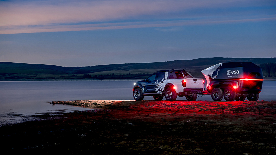 Nissan Navara Dark Sky concept vehicle and bespoke off-road trai