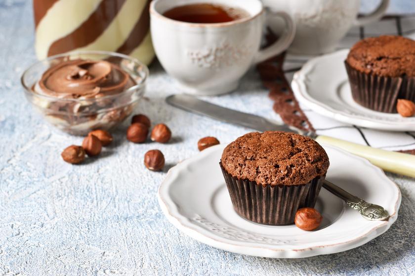 Elképesztően finom, extra csokis, nutellás muffin: rég ettél ilyen jót