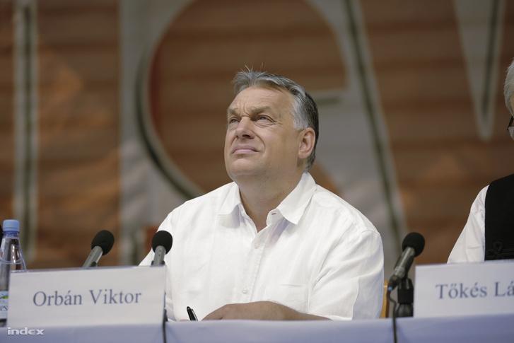 Orbán Viktor miniszterelnök előadást tart a 29. Bálványosi Nyári Szabadegyetem és Diáktáborban (Tusványos) az erdélyi Tusnádfürdőn 2018. július 28-án.