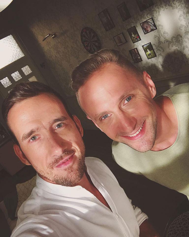 A két színész augusztus 21-én még a Barátok közt díszletében szelfizett.