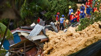 Sárlavina temetett el egy falut a Fülöp-szigeteken