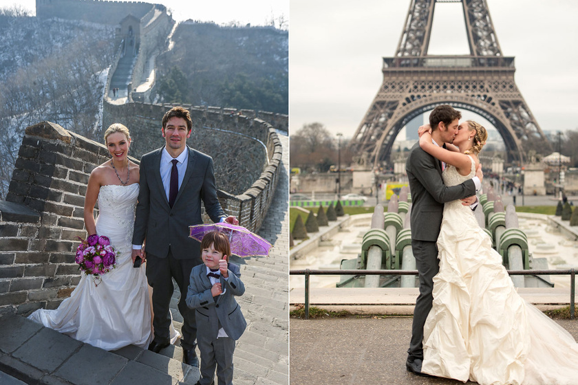 Nyolcszor mondták ki az igent! Nem is akárhogyan - Nézd meg az esküvői képeiket