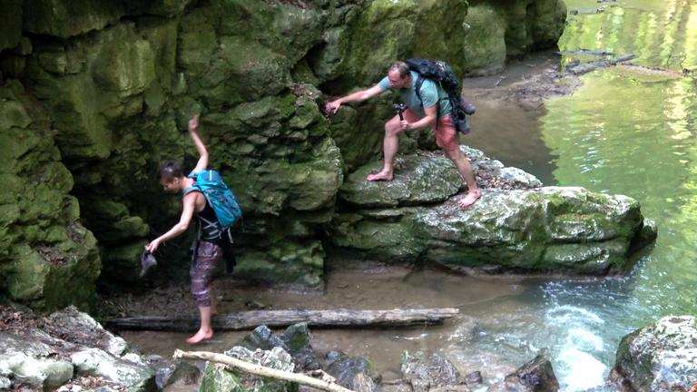 Kanyoning a legszebb bakonyi szurdokban