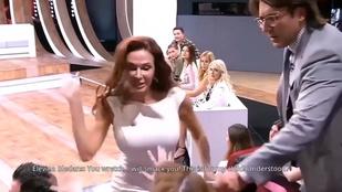 Orosz tévé: pofozás a talkshow-ban, rugdosó nő a realityben