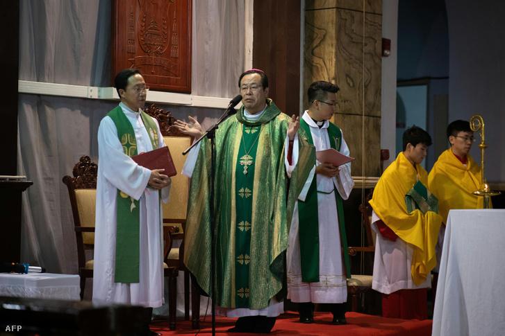Joseph Li Shan püspök Pekingben 2018. szeptember 22-én