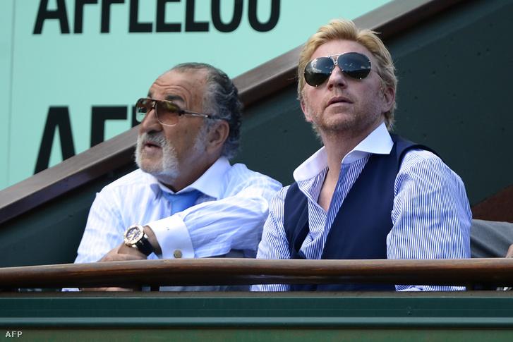 Ion Țiriac és Boris Becker a 2012-es Roland Garroson
