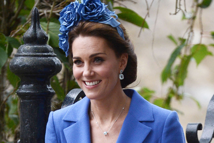 Katalin hercegné kék ruhában tündökölt az esküvőn - Ámulunk a szépségén