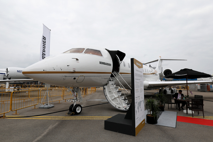 Bombardier Global 6000 business jet a szingapúri Airshow-n