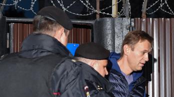 Alighogy kiengedték, újra őrizetbe vették Navalnijt