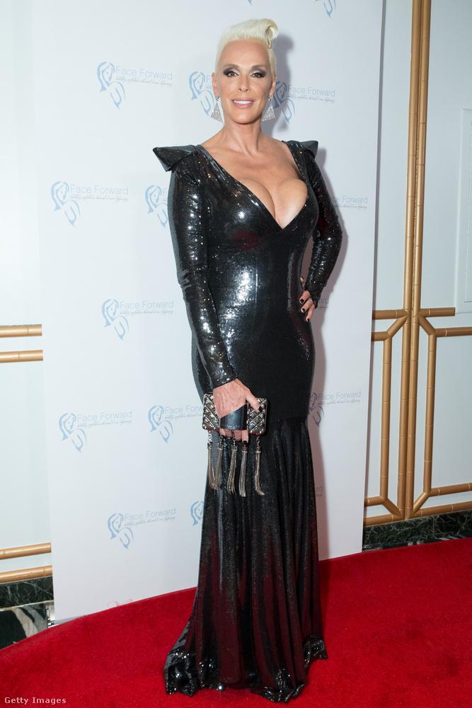 Ez a kép szombat este készült, amikor is Brigitte Nielsen színésznő-celeb elment Beverly Hillsben a Four Seasonsbe, ahol egy olyan esemény zajlott éppen, amelynek teljes hivatalos neve a következő: Face Forward's 10th Annual La Dolce Vita Themed Gala.