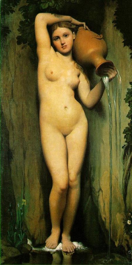 Dominique Ingres A forrás című festménye 1856-ból - ugye ön is rögtön jobban érzi magát?