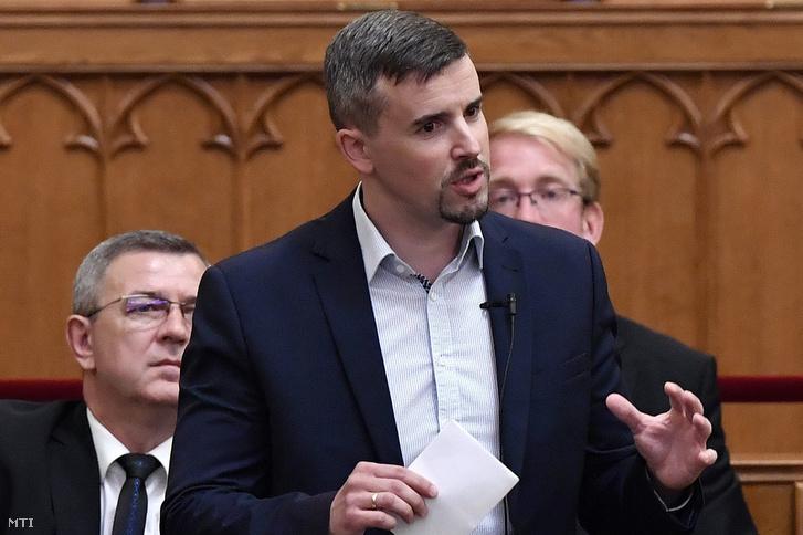 Jakab Péter, a Jobbik képviselője 2018. június 18-án.