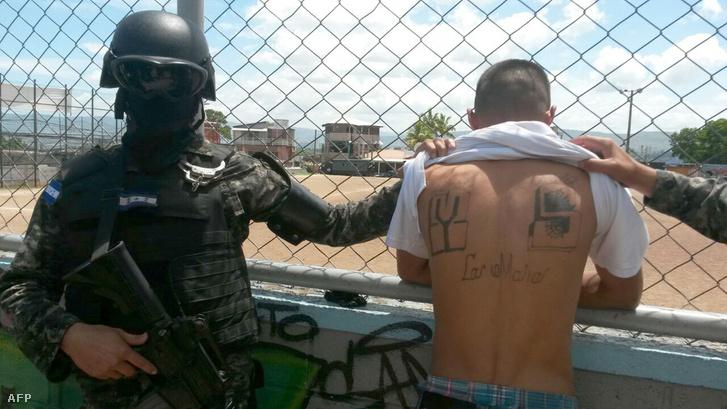 Az MS-13 banda feltételezett vezetője, a Macska álnévre hallgató José Daniel Castro Villegas a hondurasi rendőrség által kiadott képen
