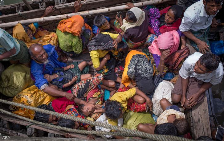 Rohingja menekültek Bangladesben