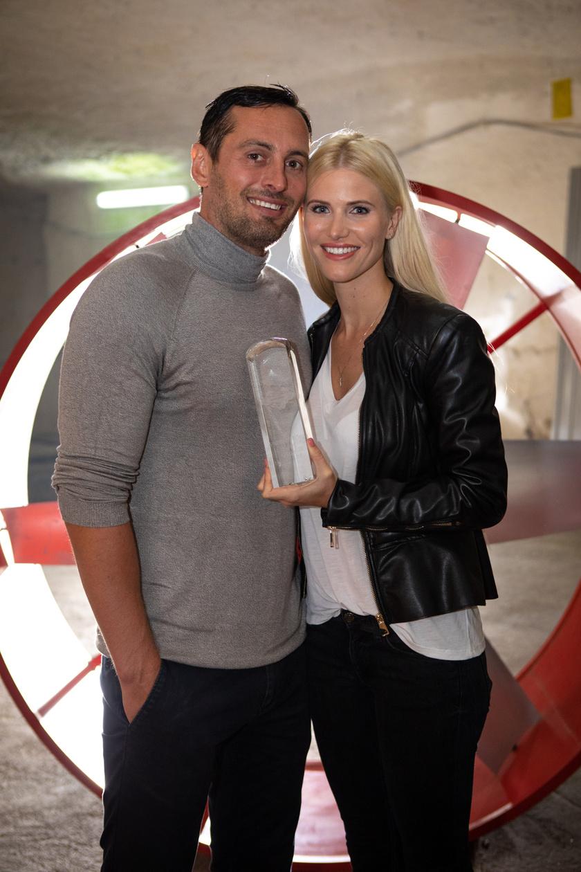 Vasvári Vivien és férje, Fecsó örömteli hangulatban voltak, miután megnyerték a 2018-as Nyerő Párost.