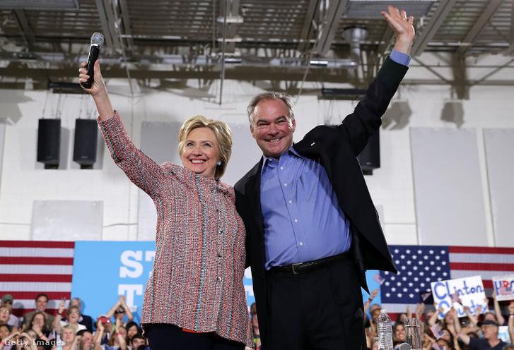 Hillary Clinton és Tim Kaine