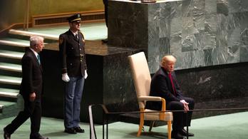 Körberöhögték Trumpot az ENSZ közgyűlésén