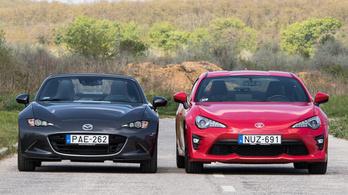 Kevés pénzért sok buli: Toyota vagy Mazda?