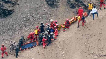 Peruban 200 méter mély szakadékba zuhant egy busz